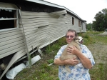 Evelyne Payette's home sits broken where it was tossed by Tropical Storm Irene's floods.
