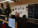 The Cape Air desk at the Lebanon Airport in New Hampshire is ready for holiday traffic. The airport is hoping to attract enough customers to qualify for increased federal funding.