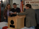 Ballots are removed from the ballot box to be counted in Dixville Notch, N.H., as they cast the first Election Day votes in the nation. After 43 seconds of voting, President Barack Obama and Republican Mitt Romney each had 5 votes in Dixville Notch.