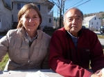 Neighbors, Karin Hardy (left) and Dave Kaneshiro, lost their homes in Irene floods.