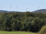 Wind generators were under construction along the Lowell Mountain ridgeline in September.