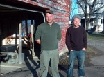 Eric Boire (left) and David Dolginow work for Sunrise Orchards in Cornwall, which has recently launched a business that distributes frozen food.