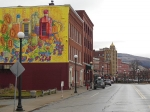 A new food-based mural in downtown Rutland.