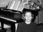 Margaret Truman Daniel and her piano